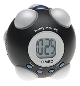 Timex T156B Wake-up Shake and Wake Alarm Clock (Black)