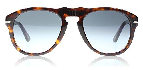Persol Men's 0PO0649 24/86 52 Aviator Sunglasses,Havana Frame/Sky Gradient Lens,One - Amazon Aviator Persol Sunglasses