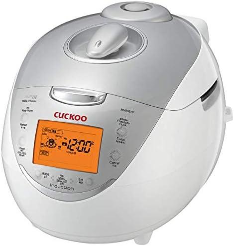 Cuckoo CRP-HV0667F 6 Cup Electric Rice Cooker, 110V, Orange