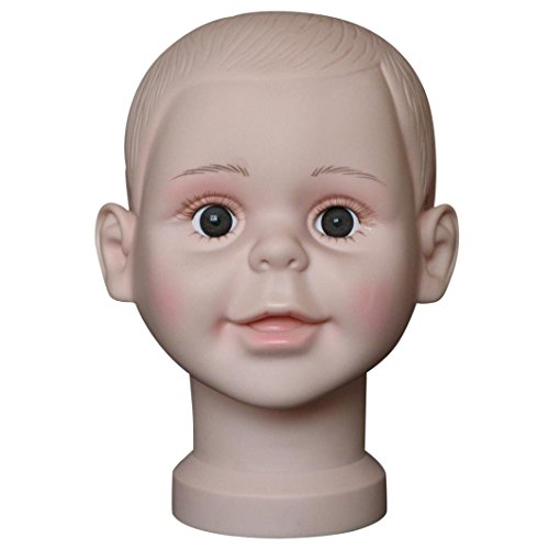 Model Head, Inkach Child Mannequin Manikin Head Model for Wig Hat Model Show Stand Display (A) by Inkach