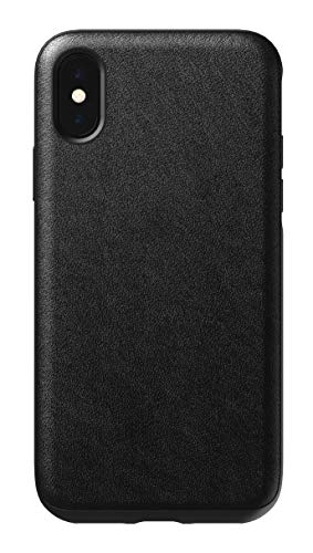 Nomad Rugged Leather Case for iPhone Xs - Black