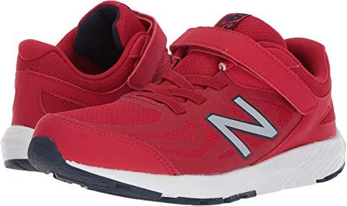 Boys Shoes Gym (New Balance Boys' 519v1 Hook and Loop Running Shoe, Chili Pepper/Nubuck Scarlet, 12.5 XW US Little Kid)