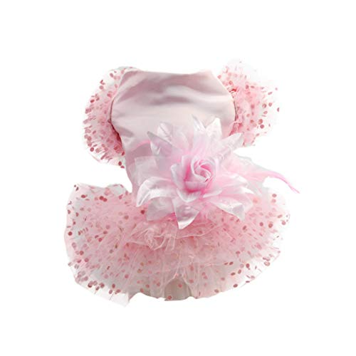 vmree Small Dog Harness Dress Lace Bottoming Ruffle Printing Wedding Party Princess Skirt Clothes Pet Cat Vest Shirts Apparel
