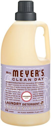 Mrs. Meyer's Clean Day 2x HE Liquid Laundry Detergent, Lavender, 64-Ounce Bottles (Pack of 6) by Mrs. Meyer's Clean Day