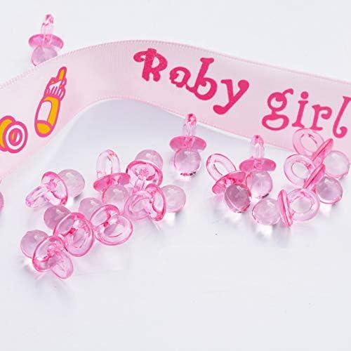 ZHANGXIUE 50pcsの小さなダイヤモンドカットおしゃぶりビーズベビーシャワーは少年女の子のためのパーティーテーブルゲー