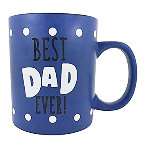 KINREX Best Dad Ever Coffee Mug Gifts - Father and Grandfather Birthday Gift - Ceramic Tea Cup - 13 oz.