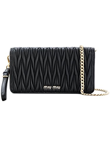 Miu Miu Black Bag (Miu Miu Women's 5Zh029n88f0002 Black Leather Shoulder Bag)