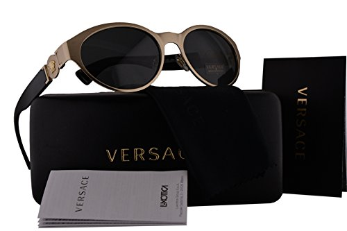 Versace VE2179 Sunglasses Brushed Pale Gold w/Gray Lens 133987 VE - 2161 Model Versace