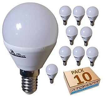 (LA) 10x Bombilla LED G45 7w, Blanco Calido (3000K), 650