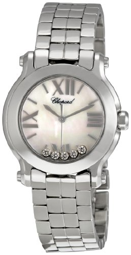 Chopard-Womens-278509-3006-Happy-Sport-II-Round-Mother-Of-Pearl-Dial-Watch
