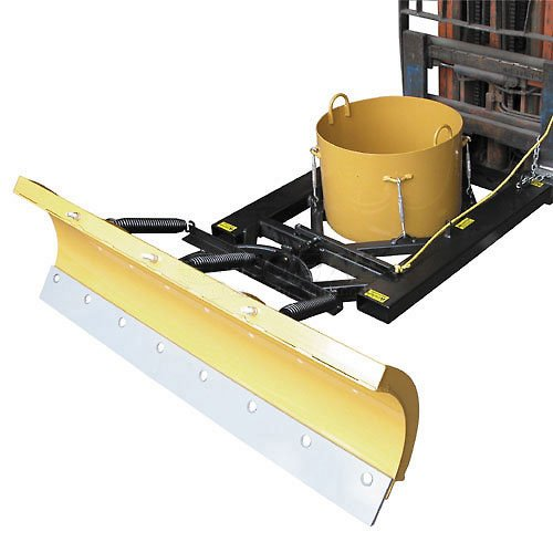 "Vestil SPB-756 7' Wide Fork Lift Snow Plow Blade for 7-1/2"" Wide Forklift Forks"