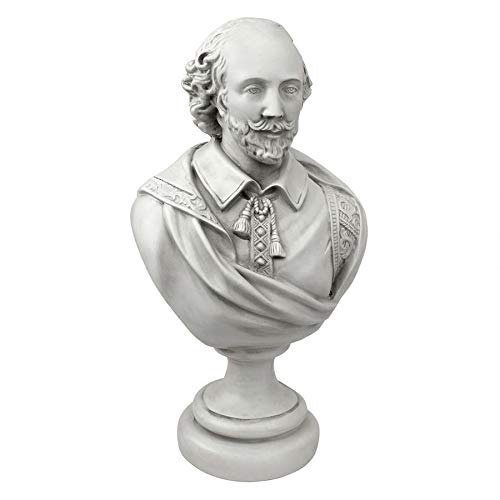 Design Toscano William Shakespeare Bust Statue, Desktop, 12 Inch, Polyresin, Antique Stone by Design Toscano