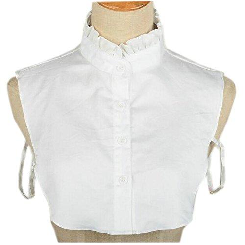 Joyci Simple Ruffles Fake Collar Detachable Dickey Collar Clothes Accessory (Ruffle Collar Shirt)