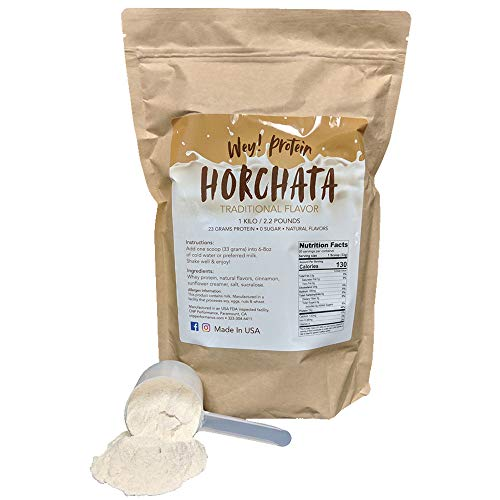 - Horchata - Whey Protein, Traditional Mexican Flavor, Sugar-Free, Gluten-Free, 23g Protein, Made in USA (30 Servings, 2.2lbs)