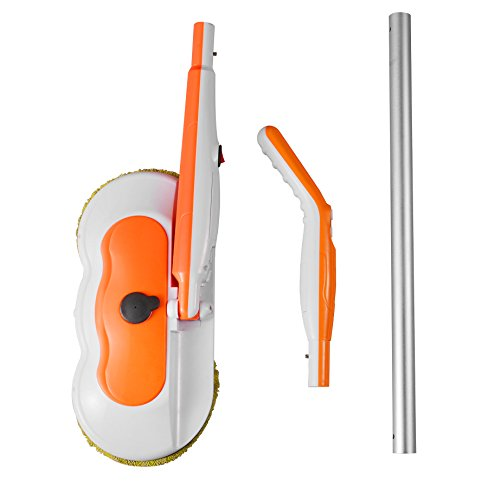Armati Hardwood Floor Mop - 360°Cordless Tub and Tile Scrubber with Batteries - Cleaning System for Polishing, Mopping, Sweeping - Orange by Armati (Image #7)