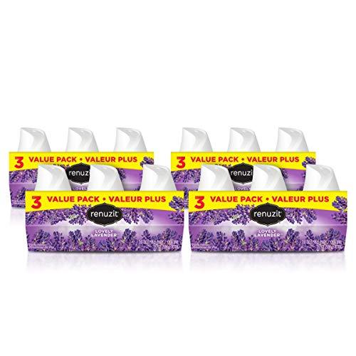 Renuzit Gel Air Freshener, Lovely Lavender, 12 Count ()