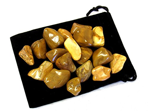 Zentron Crystal Collection: 1/2 Pound Tumbled Yellow Jasper