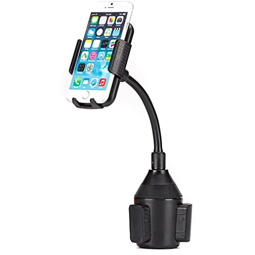 High Quality Adjustable Car Cup Holder Phone Goose Neck Mount for AT&T HTC One Mini - AT&T Kyocera DuraForce XD - AT&T LG Escape 2 - AT&T LG G Flex - AT&T LG G Flex 2 - AT&T LG G Vista by DNRPrime