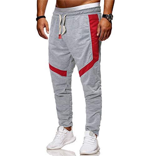 Homme Kppong Coupe Chevilles Droite Pantalon Jogging Mode Survêtement Aux Slim Coton Casual Resserré Occasionnels Gris Sport De HqrHt