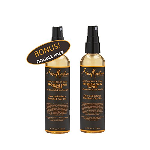 Shea Moisture African Black Soap Problem Skin Toner w/ Tamarind & Tea Tree oil 4.2 oz Value Double Pack qty of 2 Each (Shea Moisture African Black Soap Problem Skin Toner)