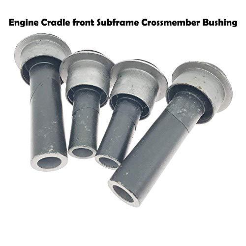 Crossmember Engine (4PCS Engine Cradle front Subframe Crossmember Bushing for 2008-2015 Nissan Rogue 2011-2015 Nissan Juke F15 Leaf ZE0 2007-2013 Nissan X-Trail T31 2009-2015 Renault Koleos 54466-JD000 54467BR00A)