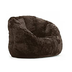 Cocoon Faux Fur Bean Bag Chair Adult Size, Brown