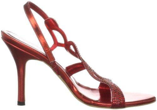 Unze Evening Sandals L18182W - Sandalias para mujer Rojo