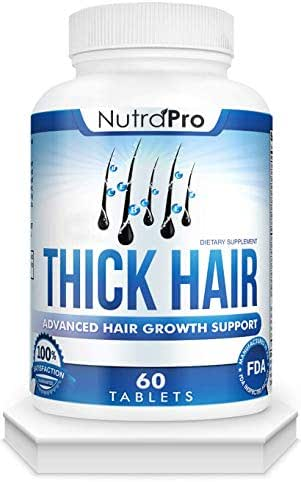 Thick Hair Growth Vitamins – Anti Hair Loss Pills With DHT Blocker Stimulates Faster Hair Growth for Weak, Thinning Hair – Biotin Hair Supplement with Keratin & Collagen Helps Men & Women Grow Perfect