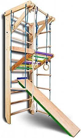 KindSport Escalera Sueca Barras de Pared Sport-3-240-Color, Gimnasia de los niños en casa, Complejo Deportivo de Gimnasia: Amazon.es: Juguetes y juegos