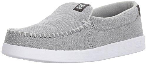 DC Men's Villain TX Skate Shoe,Grey/White/Grey,9.5 D US