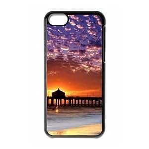 iPhone 5c Cell Phone Case Black Beach Phone Cases Fashion XPDSUNTR16537
