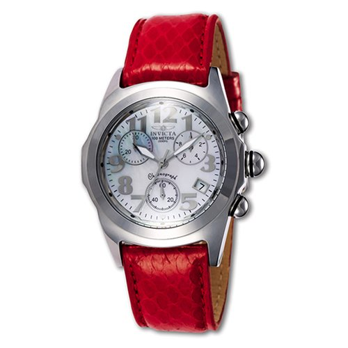 Lupah Leather (Invicta Women's 2520 Lupah Collection Diver Chronograph Watch)