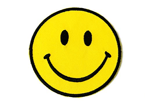 (Tyga_Thai Brand Smiley Happy Yellow Face Smile Fun Logo Hippie Retro Jacket T-Shirt Costume DIY Applique Embroidered Sew Iron on Patch)