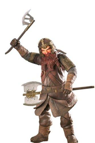 81352 2004 ToyBiz Lord Of The Rings ROTK Gimli 9 Poseable Action Figure