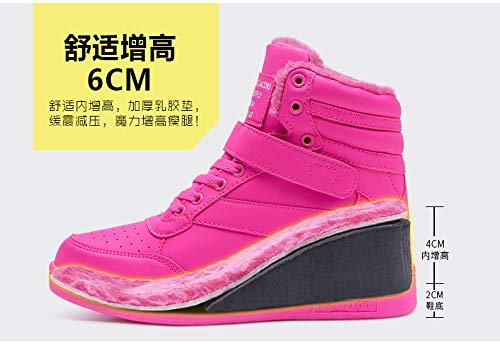 Zapatillas Gruesa Otoño Más E Para Ocasionales Inferior Rosado Liangxie De Aumento Terciopelo Parte Mujer Invierno Correr Zapatos Deportivos La Fdv11qAw
