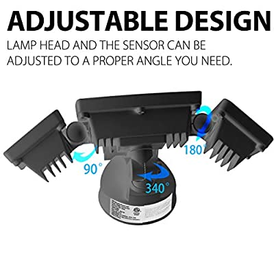 Amico Led Security Lights 3 Head Controlled by Switch