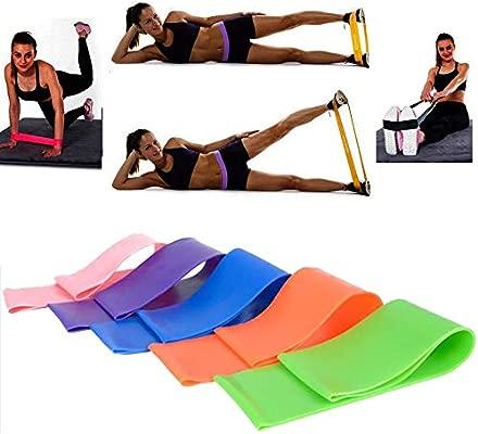 HATCHMATIC 6 Colores de Yoga Bandas de Resistencia de Goma ...