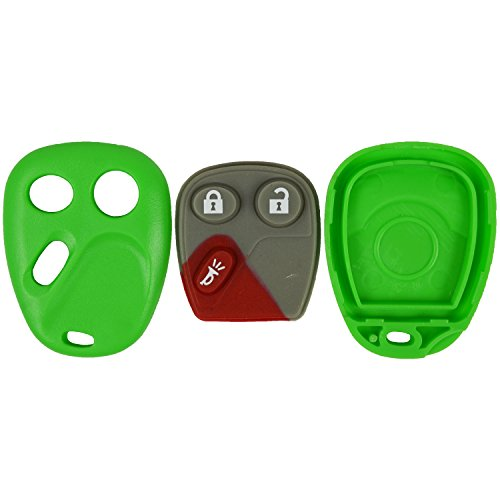 - qualitykeylessplus Green Replacement Case and Pad 3 Button Keyless Remote Key Fob FCC ID LHJ011 Free KEYTAG
