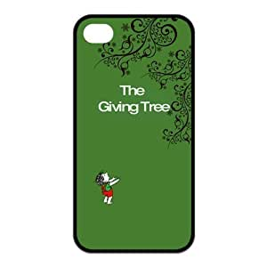 Giving Tree Pattern Design Solid Rubber Customized Cover Case for iPhone 4 4s 4s-linda129