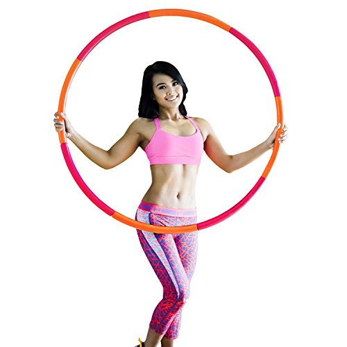 HEALTHYMODELLIFE Fitness Hula Hoop by Healthy Model Life - Easy to Spin, Premium Quality and Soft Padding Hula Hoop