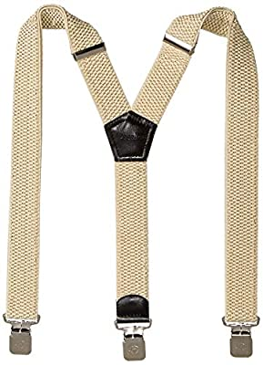 Mens Suspenders Wide Adjustable and Elastic Braces Y Shape with Very Strong Clips - Heavy Duty