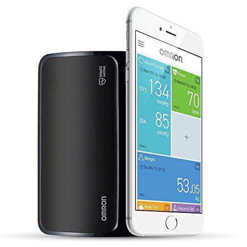 OMRON EVOLV - Tensiómetro de Brazo Todo en Uno, Inalámbrico, Bluetooth, Aplicación OMRON Connect para Móviles, Tecnología Intelli Wrap Cuff 5