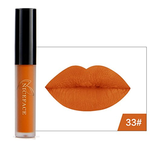 Outtop Halloween Waterproof Matte Liquid Lipstick All Day Lipcolor Set (Orange) -