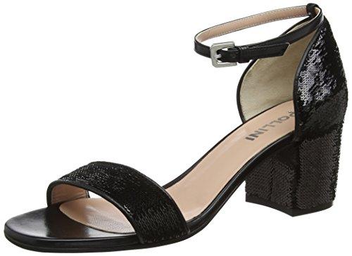 Pollini W.Sandal, Sandales Bride Cheville Femme Noir (Nero 000)
