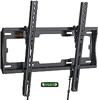 TV Wall Bracket Mount, Tilt TV Mount for Most 26-55 inch LED/LCD TV Support 45kg, Max VESA 400x400mm, Bubble Level...