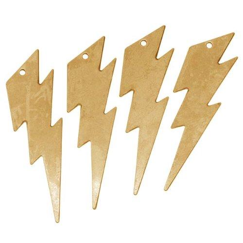 Beadaholique Brass Lightning Bolt Medium Pendant Stamping 44 x 12mm (4)