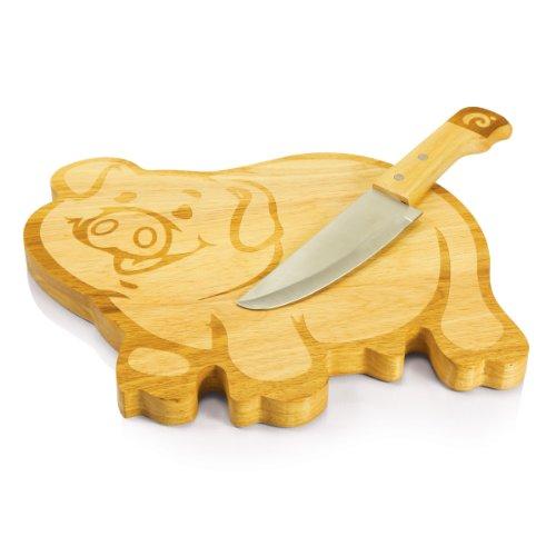 Picnic Time Piggy 2-Piece Carving Board and Knife (Tool No Quarter Halloween)