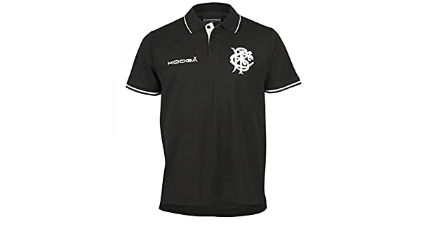 Kooga Barbarians Rugby Pique Polo Shirt 2016 - Black: Amazon.es ...