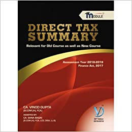 Vinod Gupta Direct Tax Book For Ca Final