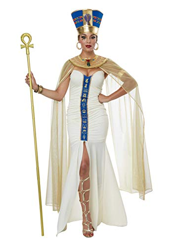 California Costumes Women's Queen of Egypt Adult Woman Costume, Cream/Blue, Large (Adult Pharaoh Costume)
